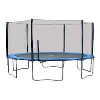 Super Jumper Blue/Silver/Black 16-foot Trampoline Combo with Safety Net