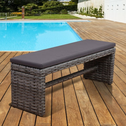 Atlantic Freeport Grey 2-seater Patio Backless Bench