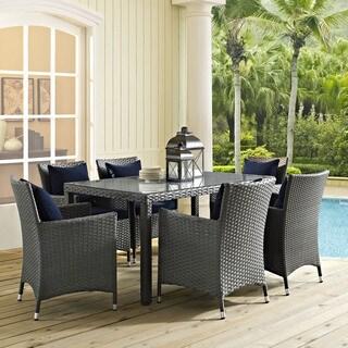 Modway Stopover Beige Sunbrella Seven-piece Outdoor Patio Dining Set