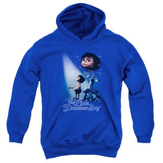 Little Drummer Boy/White Light Youth Pull-Over Hoodie in Royal