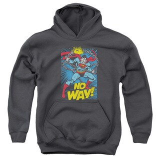 DC/No Way Youth Pull-Over Hoodie in Charcoal