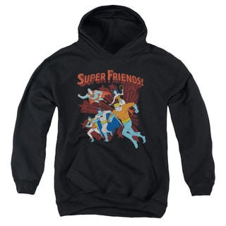 DC/Super Running Youth Pull-Over Hoodie in Black