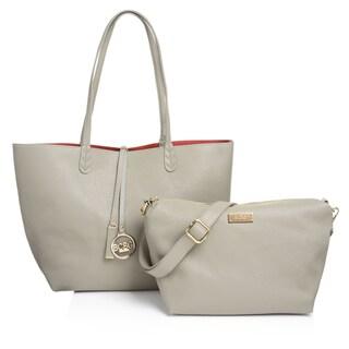 BCBG Women's Paris Faux Leather Reversible Tote Bag