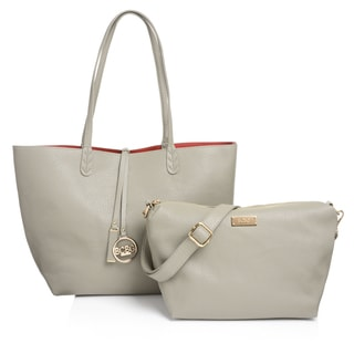 BCBG Women's Paris Faux Leather Reversible Tote Bag