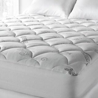 soft spa luxe cool touch tencel blend deep pocket mattress pad