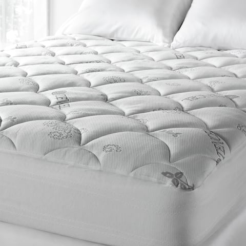 Soft Spa Luxe Cool Touch Deep Pocket Mattress Pad - White