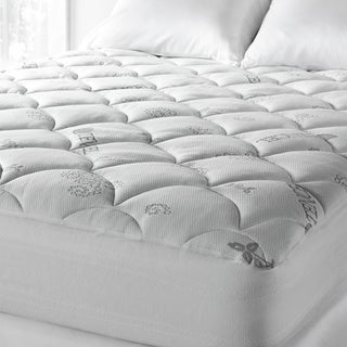 Soft Spa Luxe Cool Touch Tencel Blend Deep Pocket Mattress Pad - White