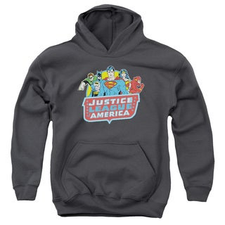 DC/8 Bit League Youth Pull-Over Hoodie in Charcoal