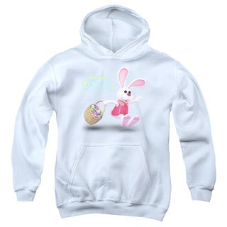 Here Comes Peter Cottontail/Hop Around Youth Pull-Over Hoodie in White