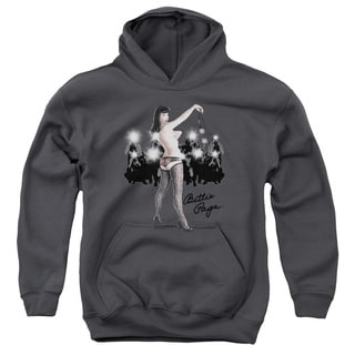 Bettie Page/Paparazzi Youth Pull-Over Hoodie in Charcoal
