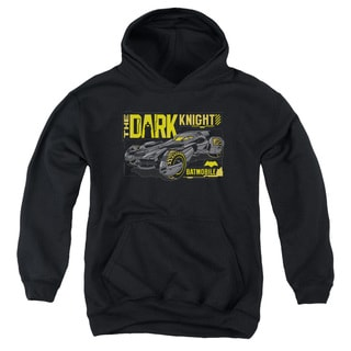 Batman V Superman/Mobile Dark Knight Youth Pull-Over Hoodie in Black