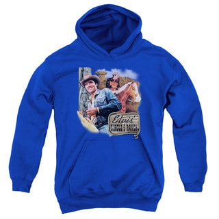 Elvis/Ranch Youth Pull-Over Hoodie in Royal