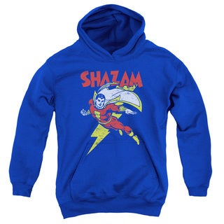 DC/Let's Fly Youth Pull-Over Hoodie in Royal