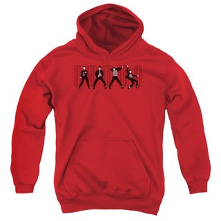 Elvis/Jailhouse Rock Youth Pull-Over Hoodie in Red