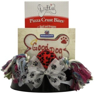 Happy Tails Pet Dog Gift Basket