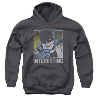 DC/Interesting Youth Pull-Over Hoodie in Charcoal