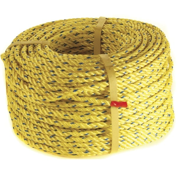 Danielson 600-foot Yellow Polyester Lead Coil Core Rope