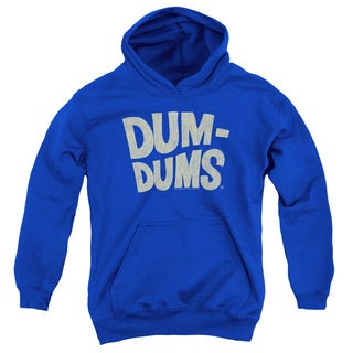 Dum Dums/Distressed Logo Youth Pull-Over Hoodie in Royal