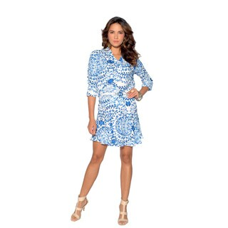 Sara Boo Flirty Floral 3/4-sleeve Dress