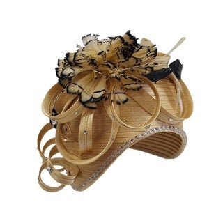 Women's 'All Year Around' Feather and Rhinestone Couture Swan Hat