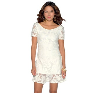 Sara Boo Women's Short Sleeve Lace Dress