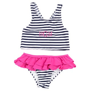 Kids' Navy Stripe Mini Swimsuit