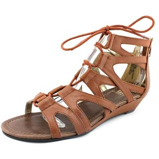 Material Girl Women's Opera Brown Synthetic Sandals