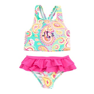 Kids' Summer Paisley Swimsuit Set