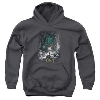Hobbit/Second Thoughts Youth Pull-Over Hoodie in Charcoal