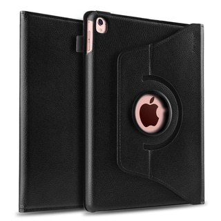 Insten Black 360-degree Synthetic Leather with Soft Suede Interior Swivel Stand Case Cover for Apple iPad Pro 9.7-inch