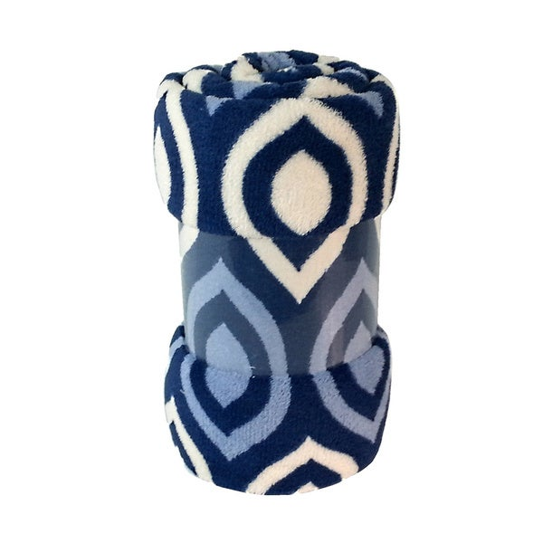 Blue Fleece Printed Throw - Available in Several Colors