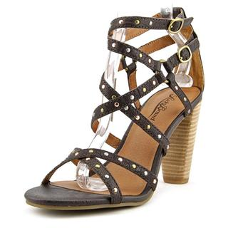 Lucky Brand Women's Orandi Brown Leather Strappy Sandals