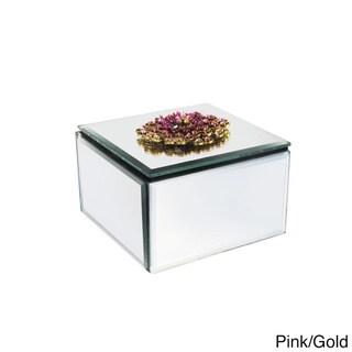 American Atelier Glass Mirrored Jewelry Box