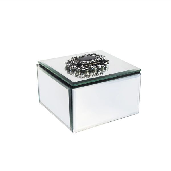 shop american atelier glass mirrored jewelry box free shipping on