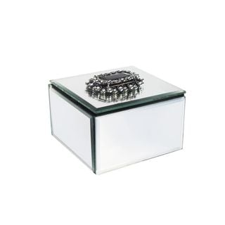 American Atelier Glass Mirrored Jewelry Box