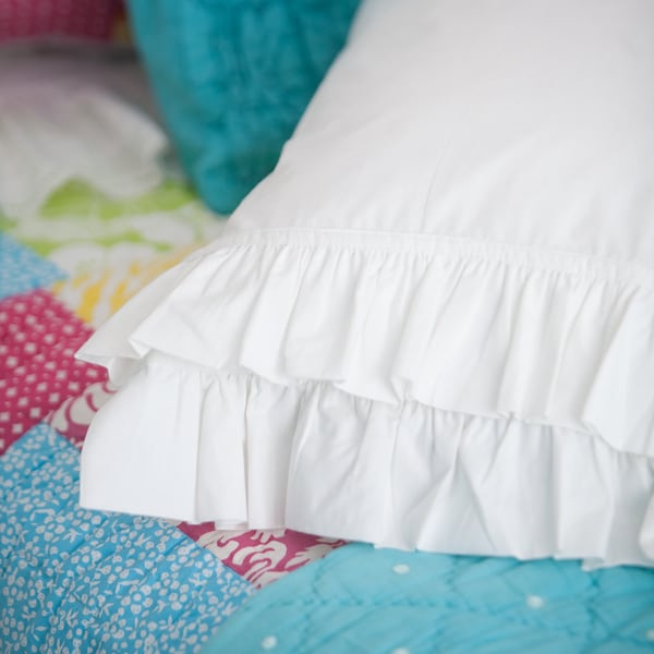 200 Thread Count French Ruffle Pillowcase Set