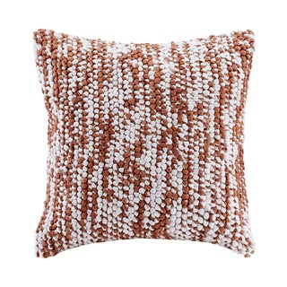 Madison Park Heathered Woven Handloom Spice Square Pillow