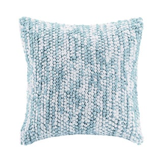 Madison Park Heathered Handloom Blue Square Pillow