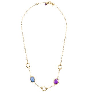 1479- Pre-Owned Lalla & Rossana 18K Yellow Gold Enamel Necklace