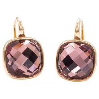 Pre-Owned Lalla & Rossana 18k Yellow Gold Pink Amethyst Earrings