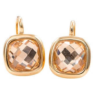 Pre-Owned Lalla & Rossana 18k Yellow Gold Pink Quartz Earrings
