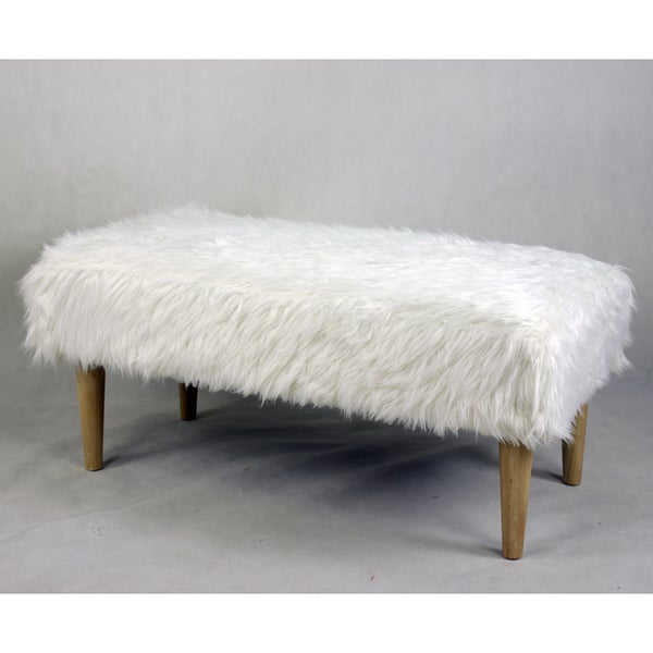 Brooklyn Faux Fur Accent Bench Free Shipping Today