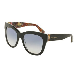 D&G Women's DG4270 303319 Black Plastic Square Sunglasses