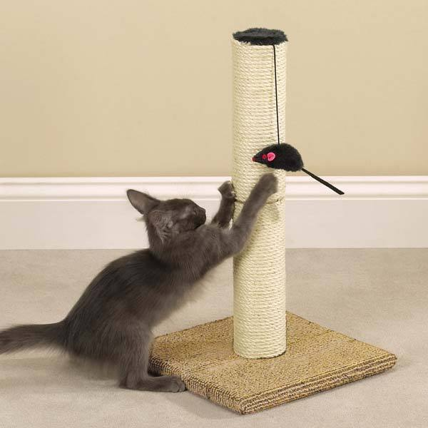 Meow Town Scratch N' Stow Cat Scratching Post (tan)