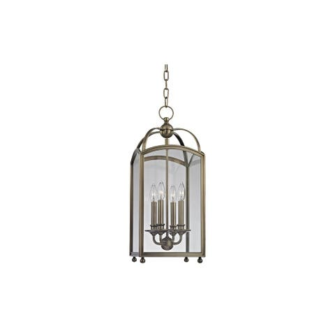 Hudson Valley Millbrook 4 Light 25-inch Historic Nickel Pendant