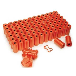 Clean Go Orange Plastic Pet Waste Bag Super Pack (75 Rolls)