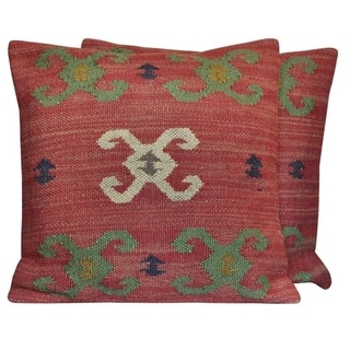 """Link to Handmade Wool & Jute Kilim Pillows, Set of 2 (India) - 20"""" L x 20"""" W Similar Items in Decorative Accessories"""