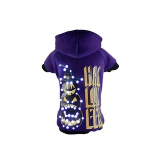 Pet Life LED Lighting Halloween Snowman Hooded Sweater Pet Costume
