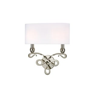 Hudson Valley Pawling 2 Light Nickel Wall Sconce