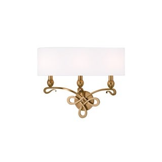Hudson Valley Pawling 3 Light Brass Wall Sconce